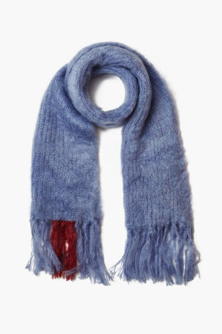 Blue Ice Mohair Scarf
