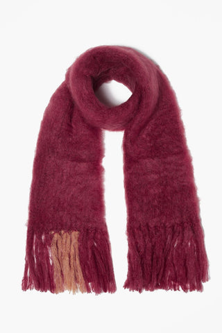 Pomegranate Mohair Scarf