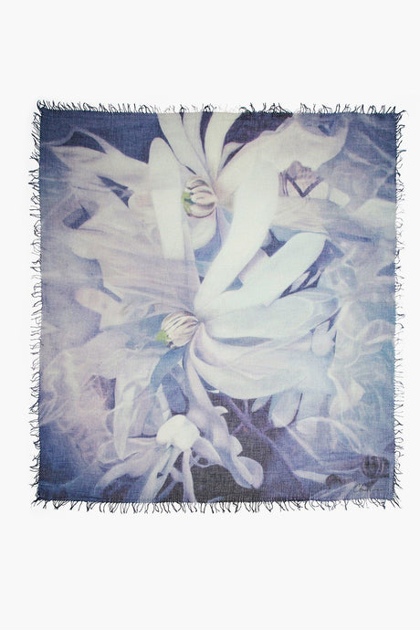 Ghost Flowers Cashmere and Silk Scarf