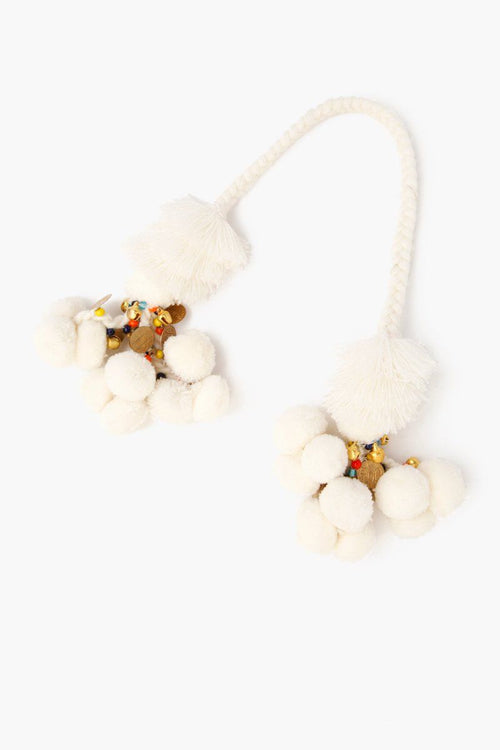 Cream Mix Basket Pom Pom Charm