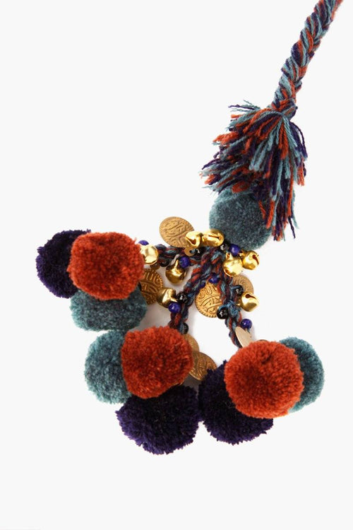 Blue Mix Basket Pom Pom Charm