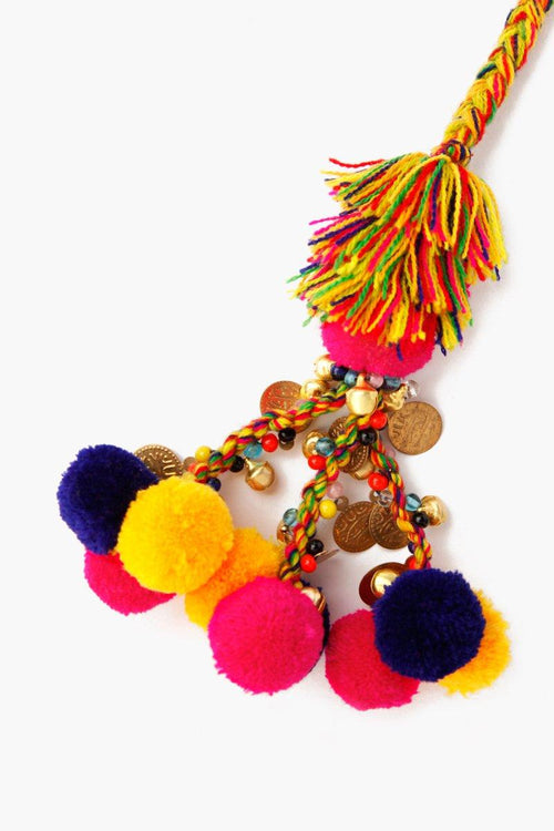 Multi Mix Basket Pom Pom Charm
