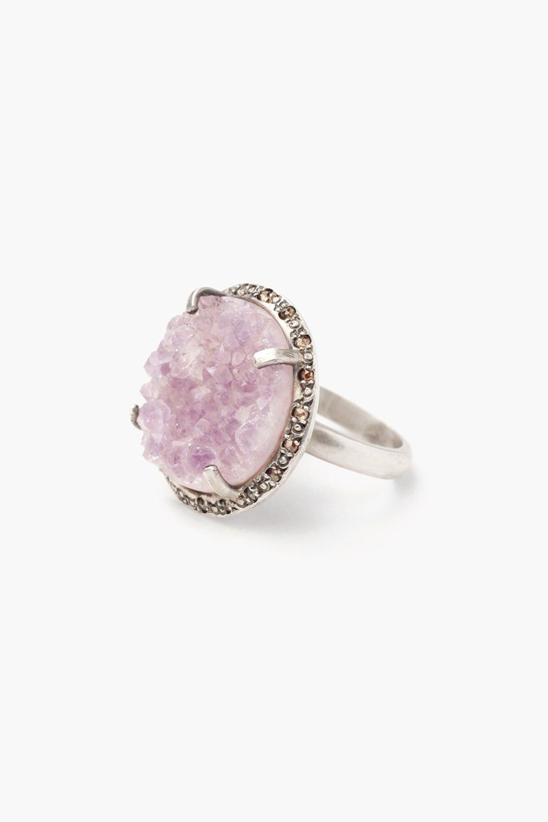 Agate Pendant Diamond Ring