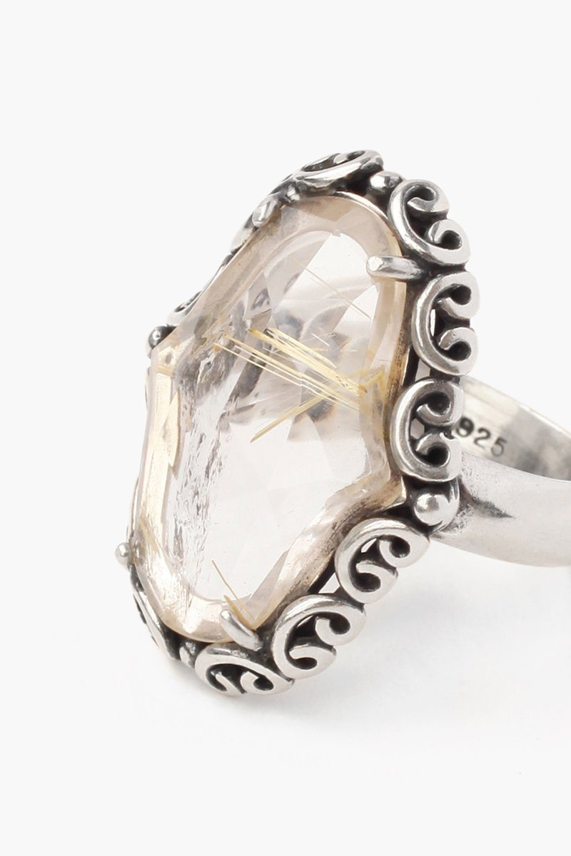 Rutilated Quartz Statement Ring