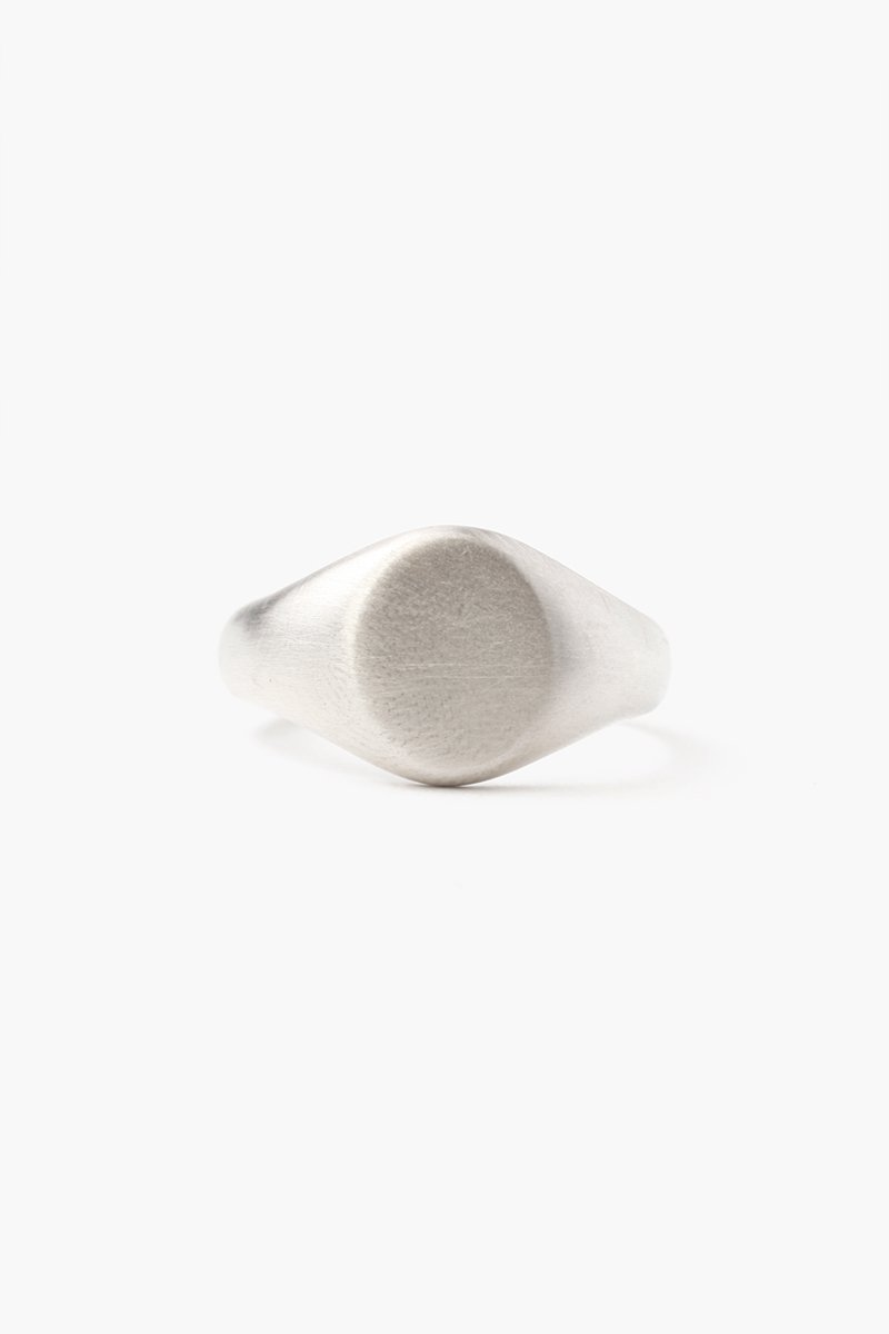 Silver Signet Oval Ring