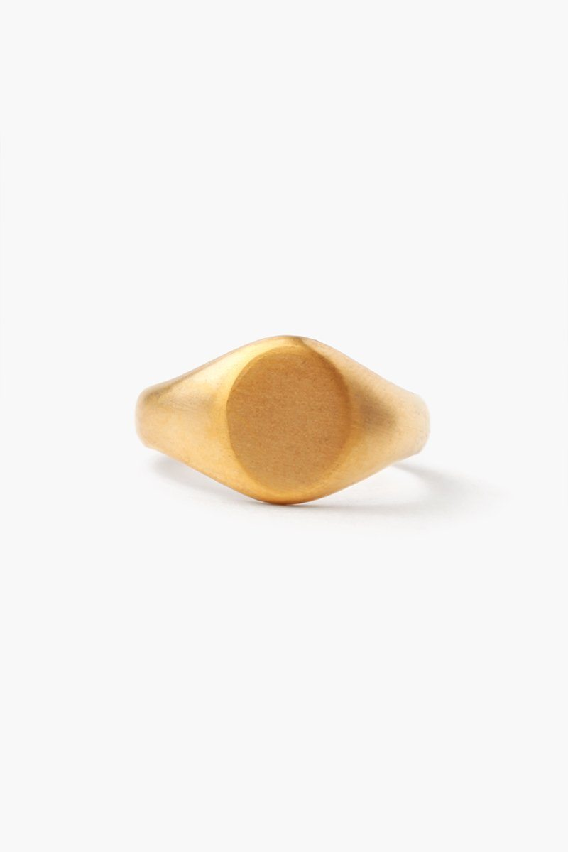 Gold Signet Oval Ring