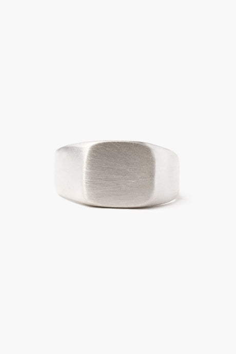 Silver Signet Square Ring
