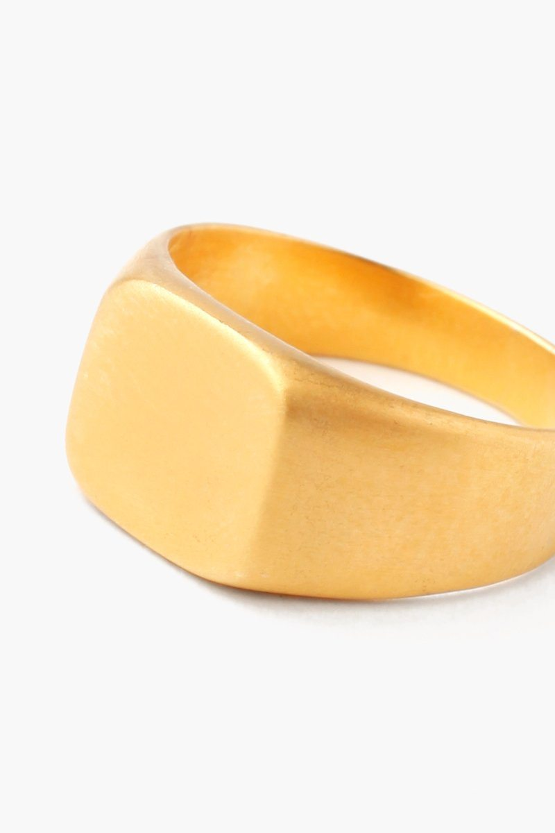 Gold Signet Square Ring