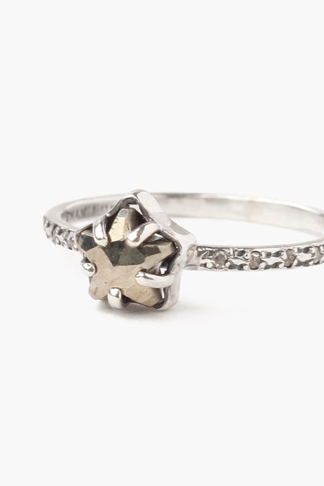 Pyrite Diamond Ring