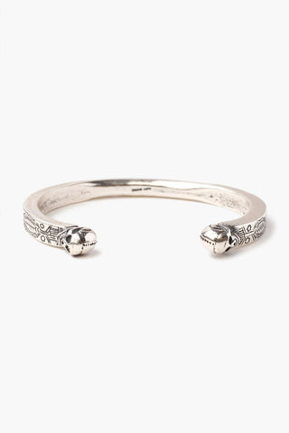 Silver Dot Men's Engraved Cuff