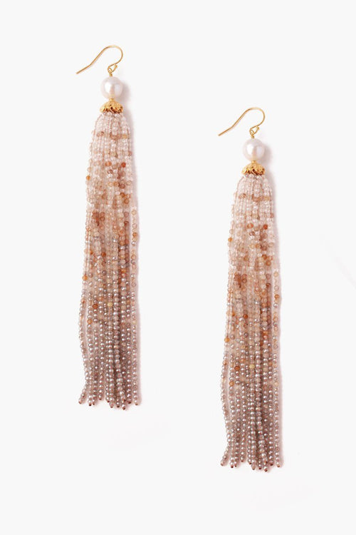 Golden Mix Statement Earrings
