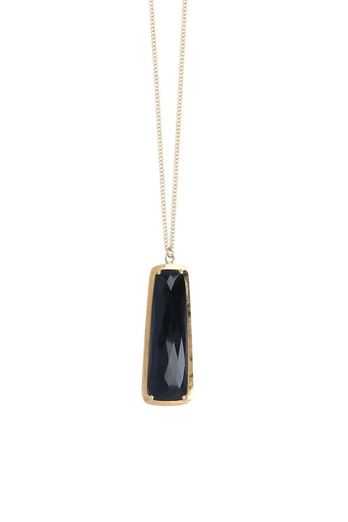 Onyx Pendant Layering Necklace