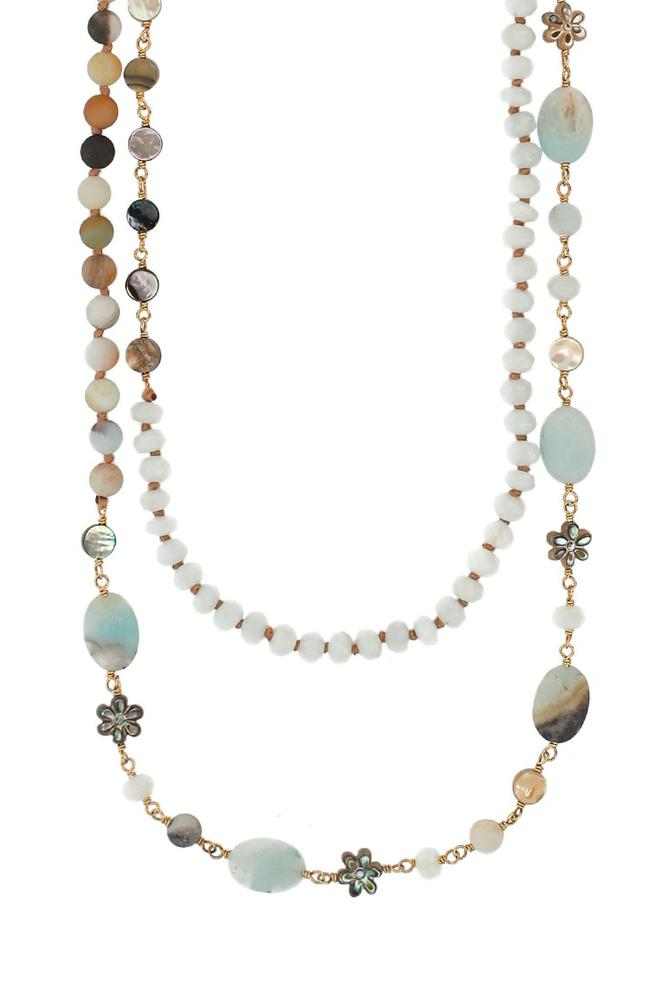 Multi Amazonite Mix Pre-Layered Necklace