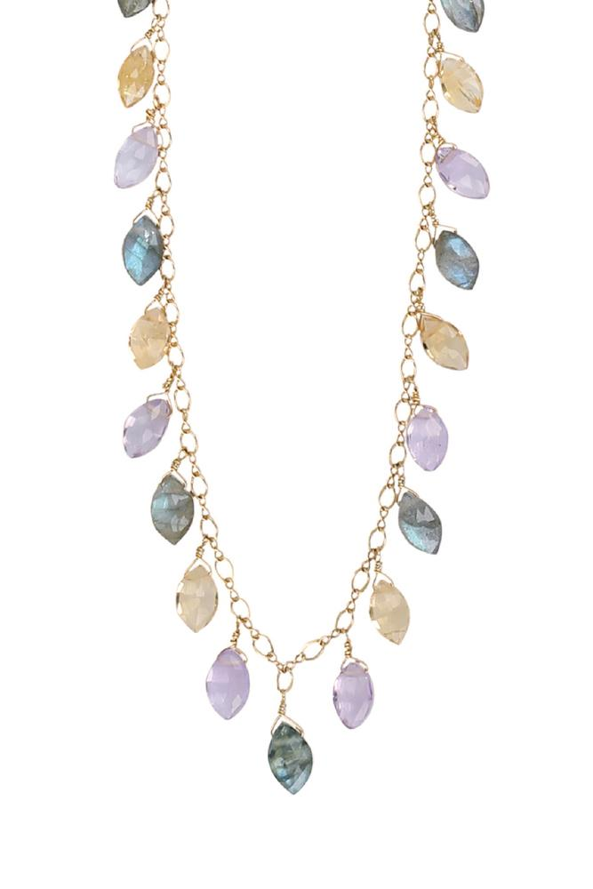 Multi Stone Swing Necklace
