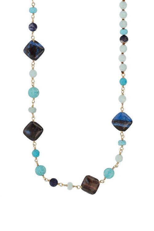 Turq Mix Beaded Layering Necklace