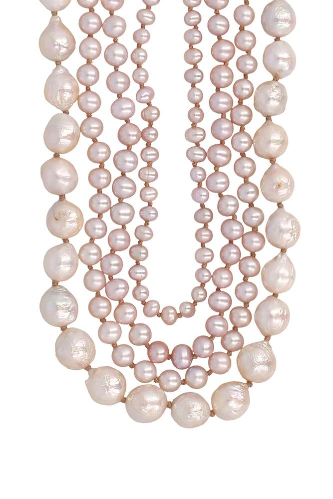 Pink Pearl Multi Adjustable Necklace