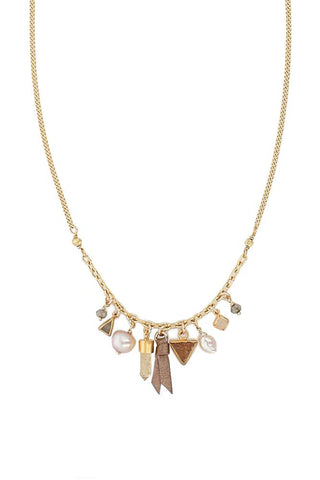 Multi Stone Sway Necklace
