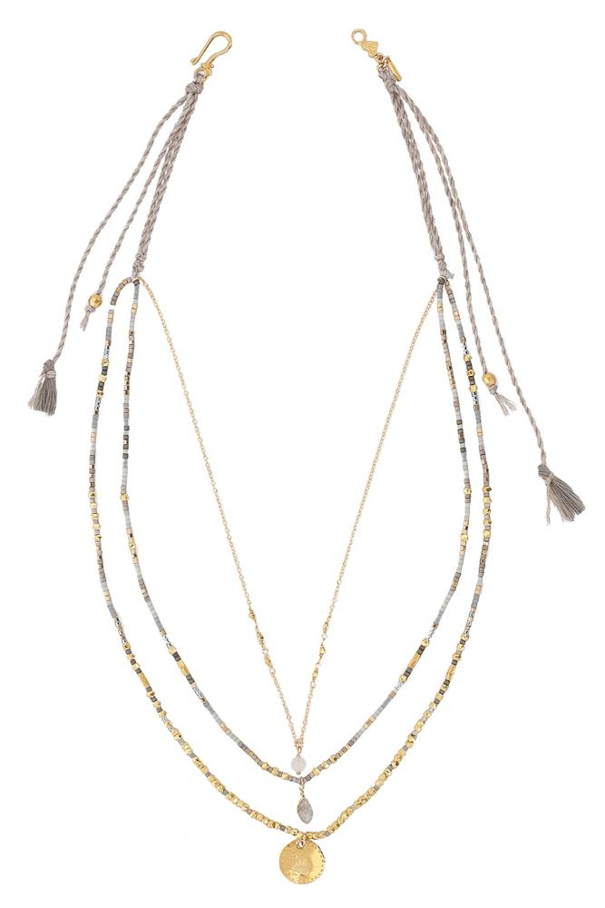 Grey Mix Pre-Layered Necklace