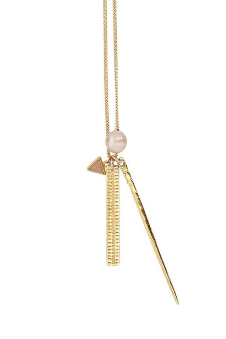 Pink Mix Dagger Charm Necklace