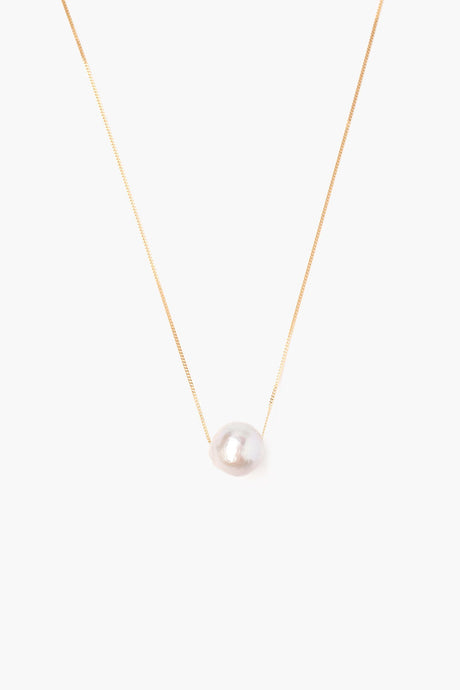 Grey Floating Pearl Necklace