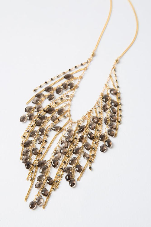 Smokey Quartz Fringe Necklace