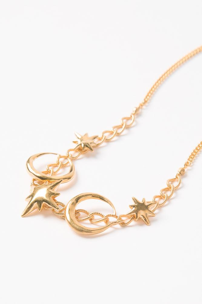Yellow Gold Celestial Choker
