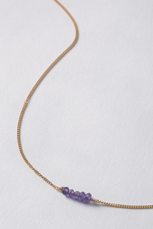 February | Amethyst Delicate Necklace