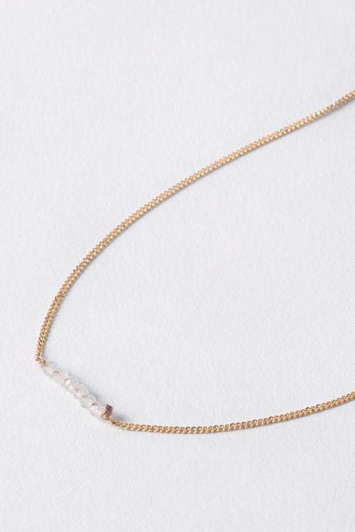 April | Moonstone Delicate Necklace