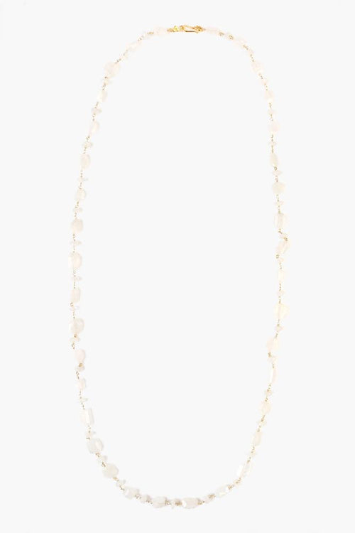 Moonstone Long Layering Necklace