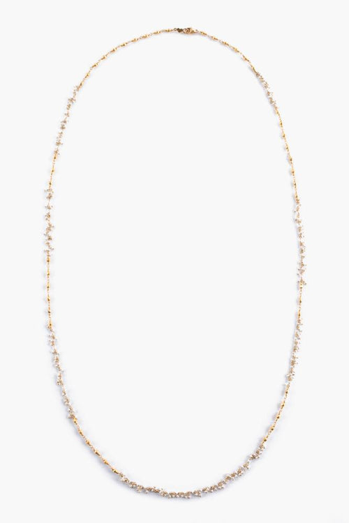 White Pearl Layering Necklace