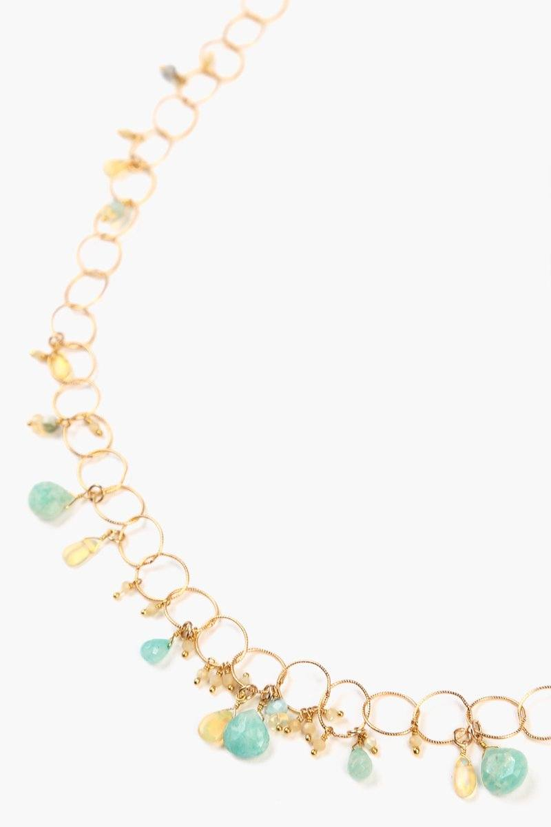 Amazonite Mix Chain Layering Necklace