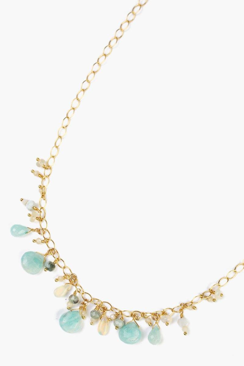 Amazonite Mix Charm Necklace