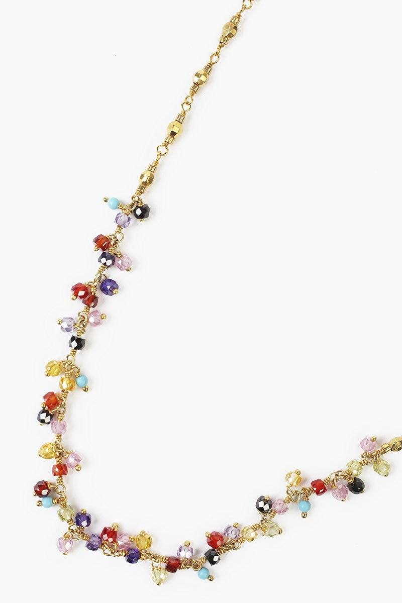 Multi Beaded Crystal Layering Necklace