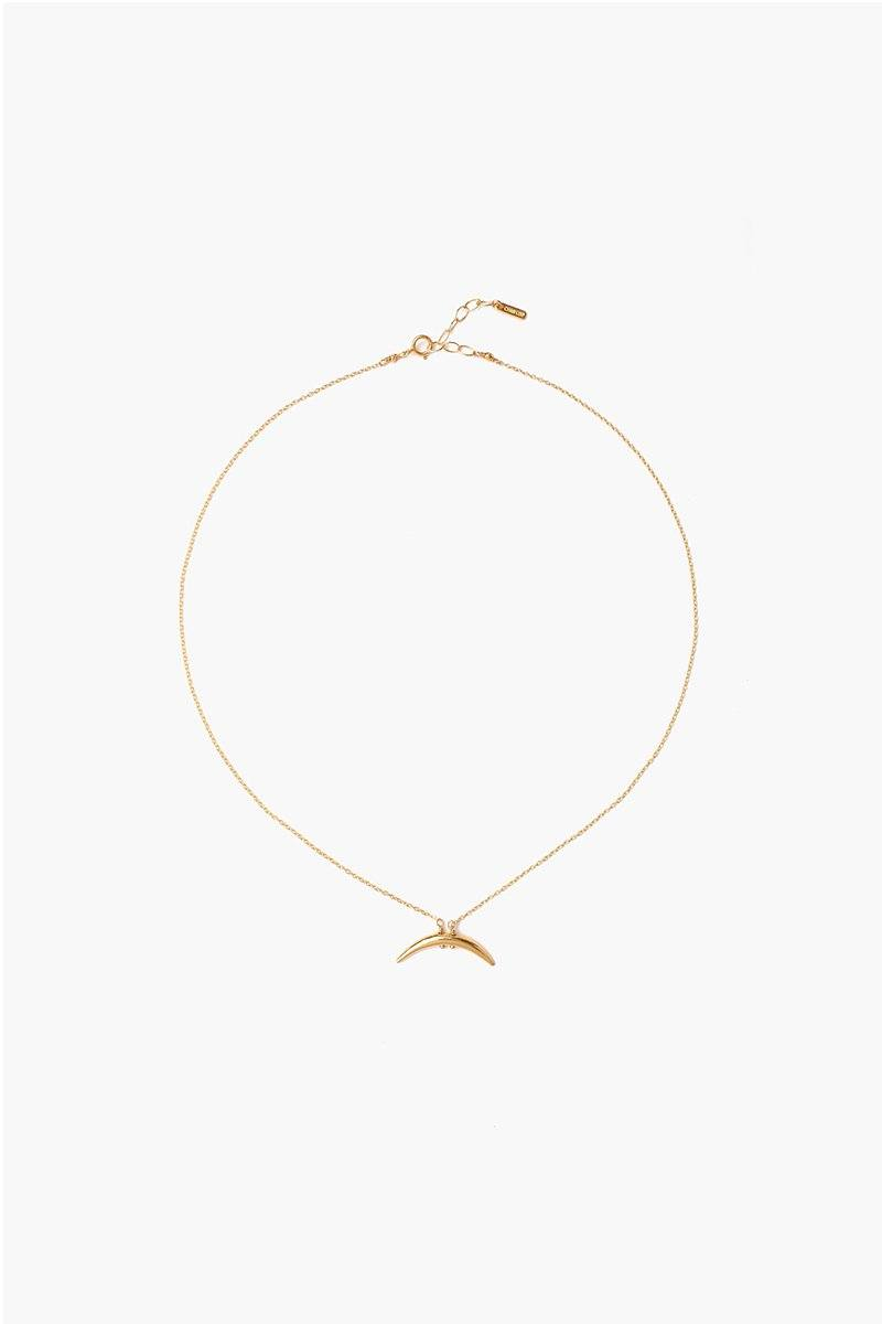Yellow Gold Petite Horn Necklace
