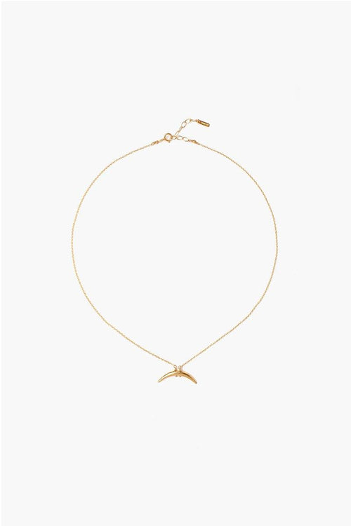 Yellow Gold Petite Horn Necklace (Pre-Order)