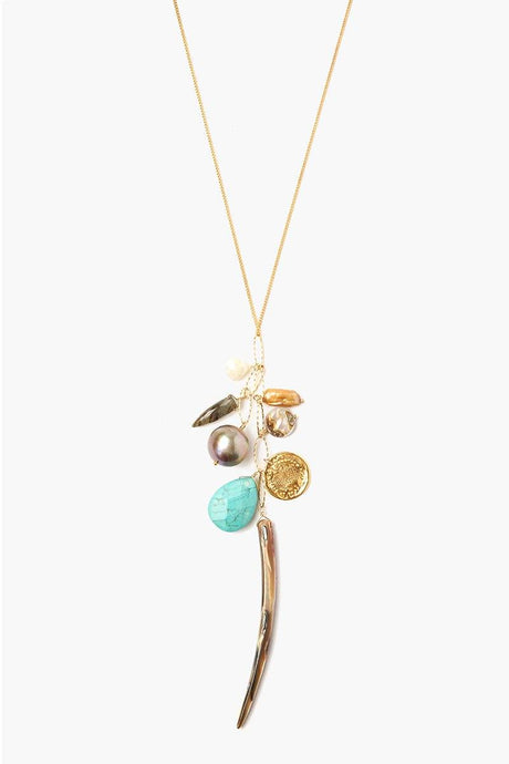 Abalone Mix Charm Layering Necklace