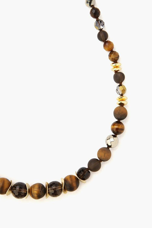 Tiger's Eye Mix Adjustable Necklace