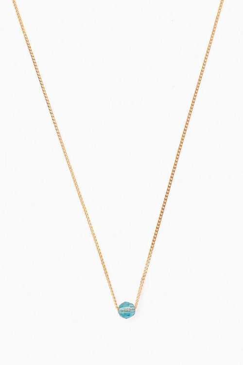 December Light Turquoise Birthstone Necklace