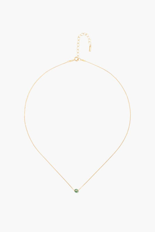 August Peridot Birthstone Necklace