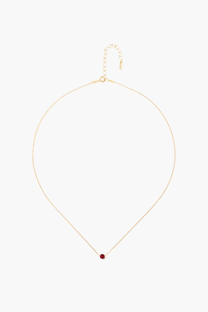 January Siam Birthstone Necklace