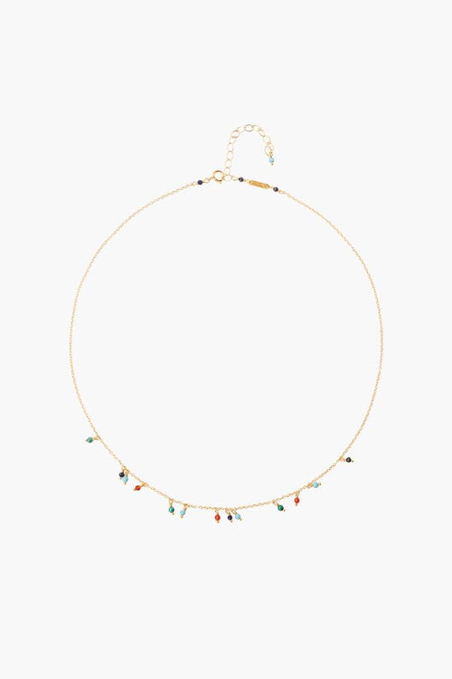 Multi Mix Delicate Short Necklace