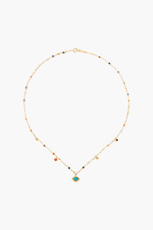 Multi Mix Marquise Short Necklace