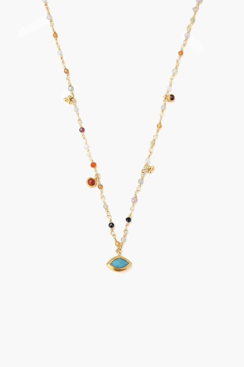 Multi Mix Evil Eye Short Necklace