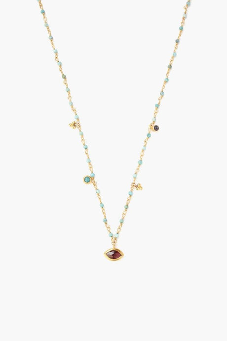 Turquoise Mix Evil Eye Short Necklace