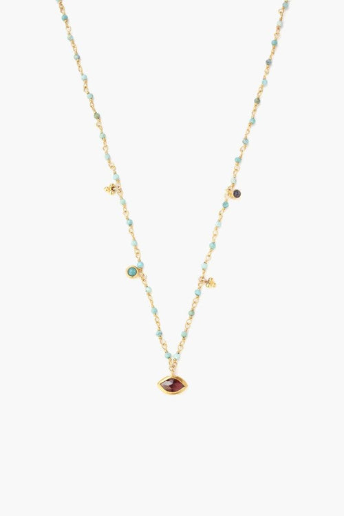 Turquoise Mix Marquise Short Necklace