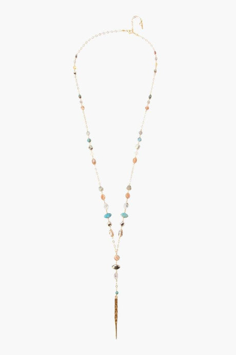 Abalone Mix Dagger Layering Necklace
