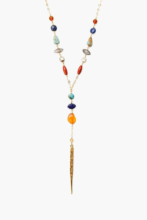 Multi Mix Dagger Layering Necklace