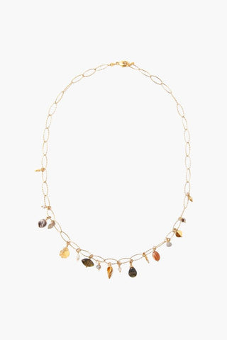 Pyrite Lariat Short Necklace