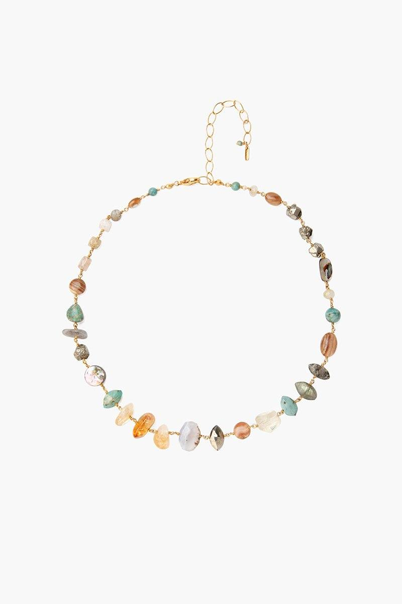 Citrine Mix Short Necklace
