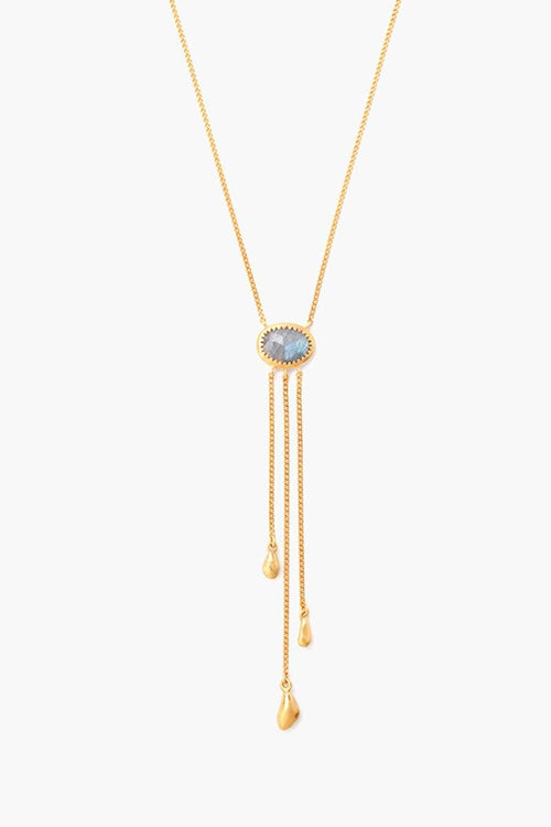 Labradorite Lariat Short Necklace